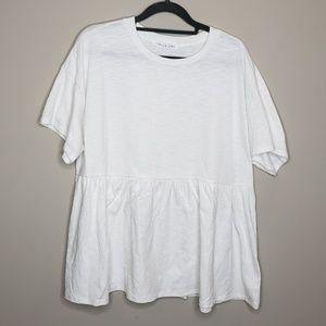 Chris & Carol Short Sleeve Knit T Shirt Ruffle